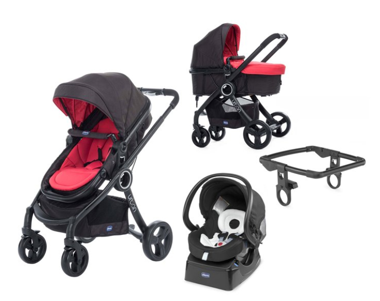 CHICCO Kočík trojkombinácia Urban Plus Crossover Red Passion + Auto-Fix Fast