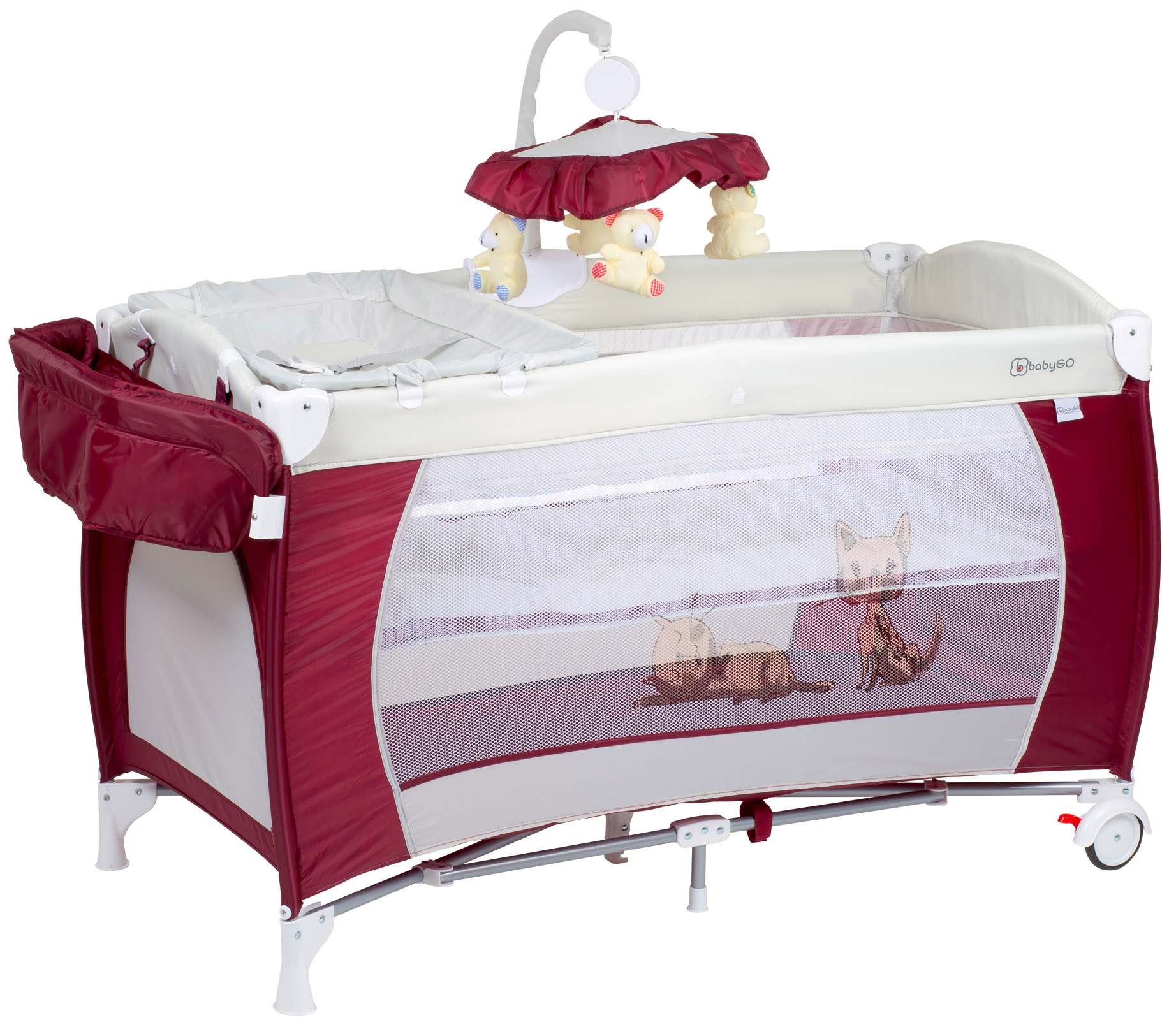 BABYGO postýlka SLEEPER DELUXE Red