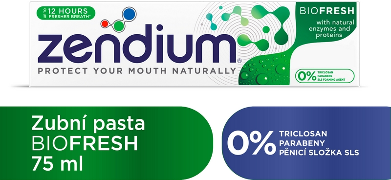 ZENDIUM Zubní pasta BioFresh 75 ml