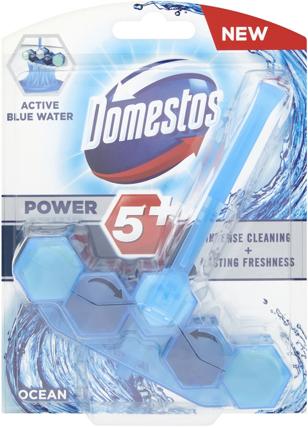 7x DOMESTOS Power 5 Blue Water Ocean 53 g