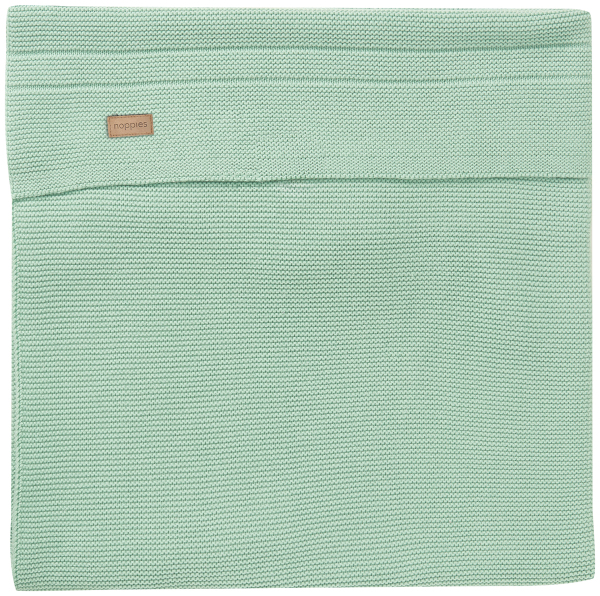 NOPPIES Deka U Baby bed knit Nola 120x120 cm Grey Mint