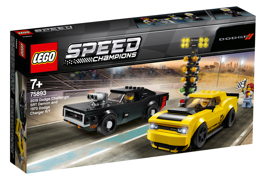 LEGO® Speed Champions 75893 2018 Dodge Challenger SRT Demon a 1970 Dodge Charger RT