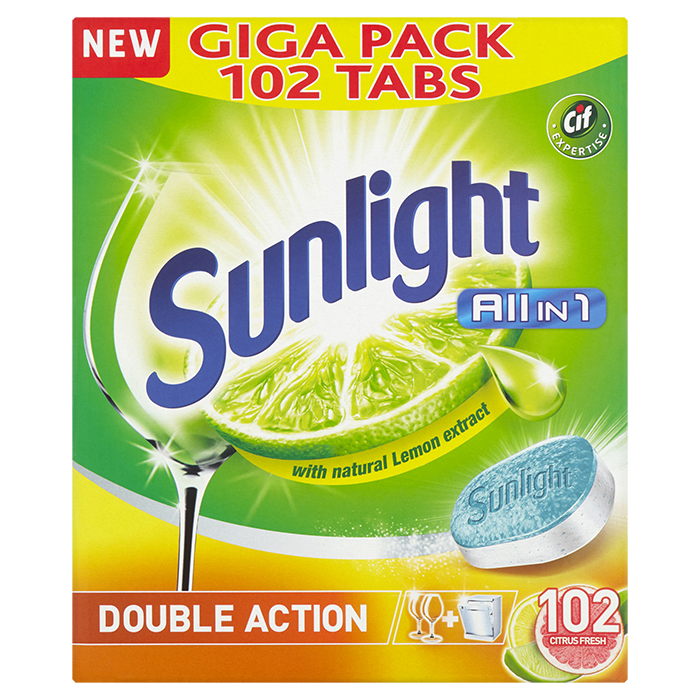 SUNLIGHT All in One Lemon 102 ks – tablety do myčky