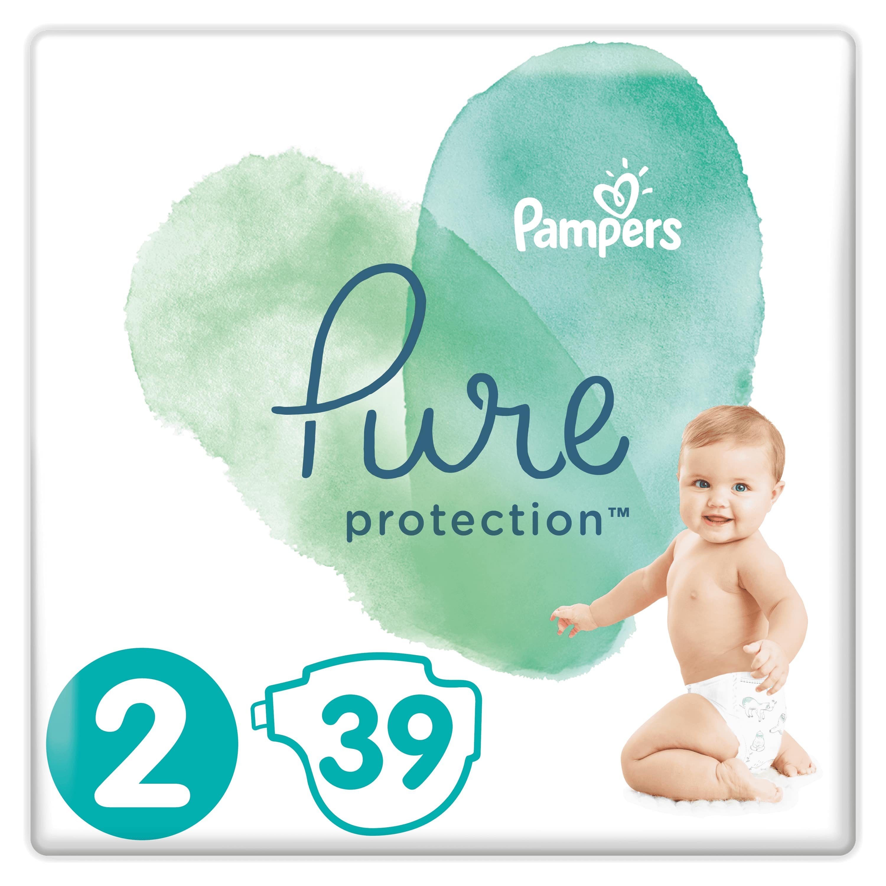 PAMPERS Plienky Pure Protection 2 MINI 4-8kg 39ks