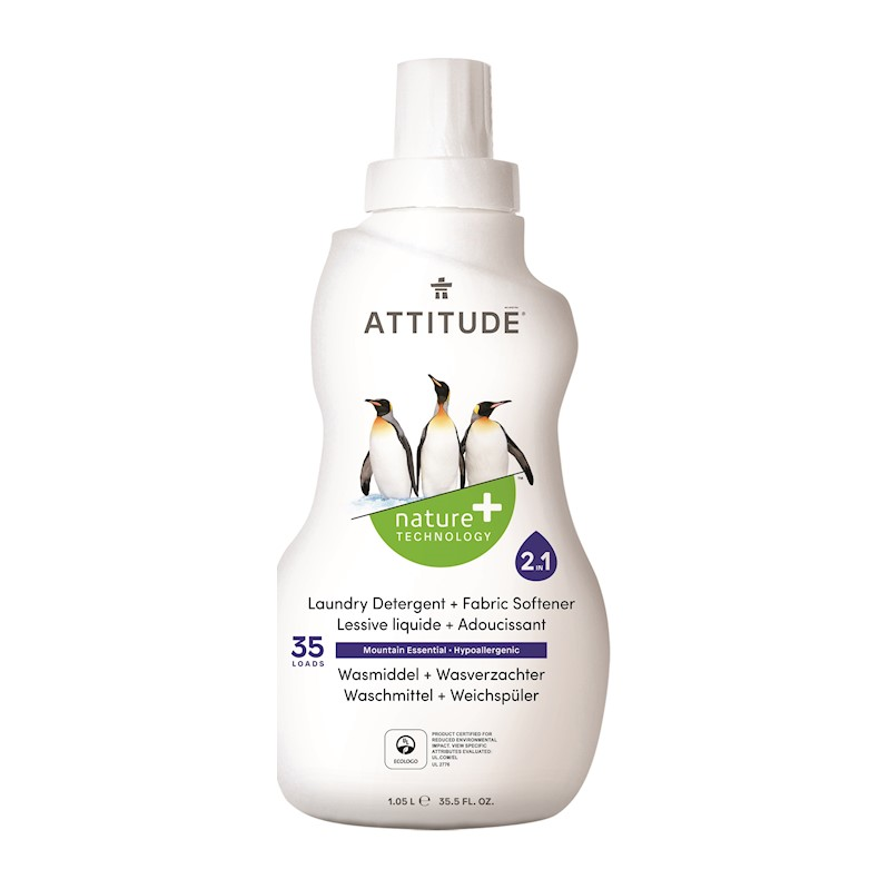 ATTITUDE Prací gel a aviváž 2v1 s vůní Mountain Essentials 1050 ml (35 dávek)