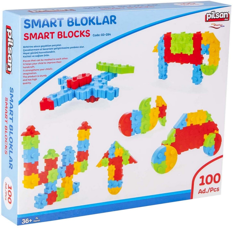 PILSAN Stavebnice Smart Blocks 100 ks