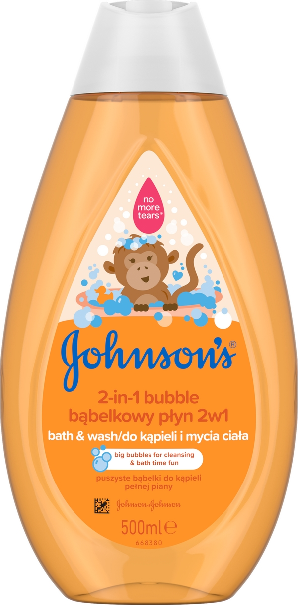 JOHNSONS BABY Bublinková koupel & mycí gel 2v1 500 ml