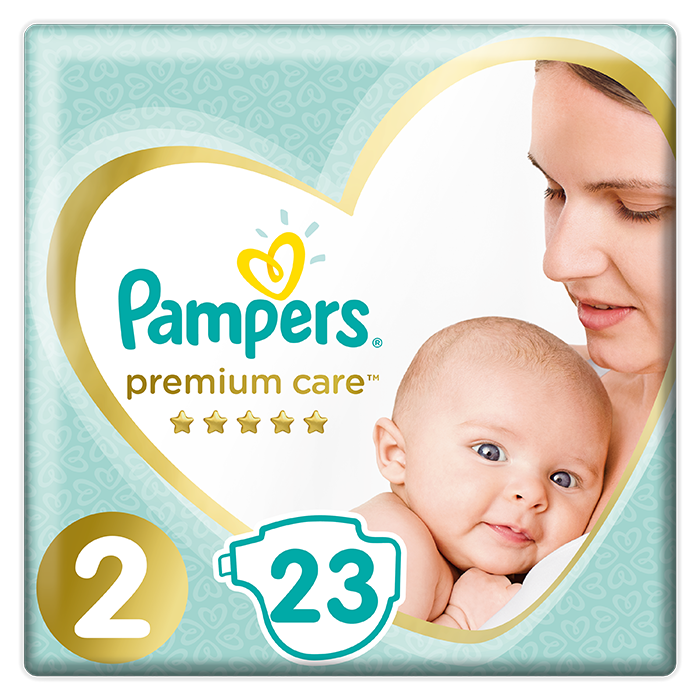 PAMPERS Premium Care 2 MINI (4-8 kg) 23 ks Carry Pack – jednorázové pleny
