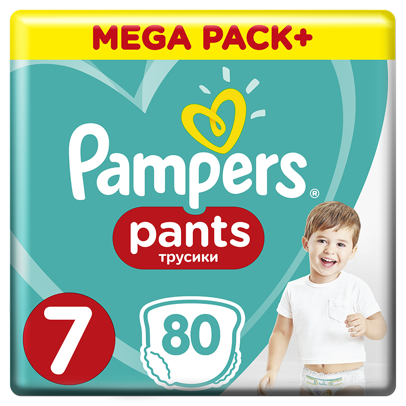 PAMPERS Active Pants 7 (17 kg) 80 ks MEGA BOX – plenkové kalhotky