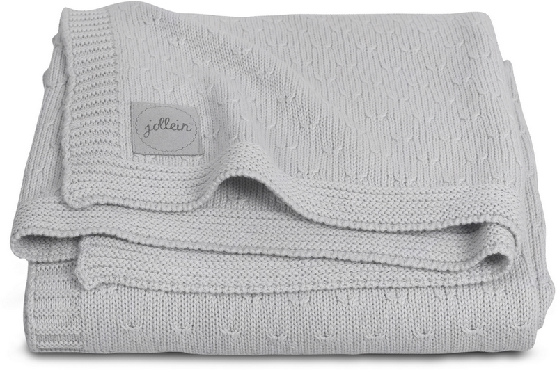 JOLLEIN Deka-blanket 75x100 cm Soft Knit – Light grey