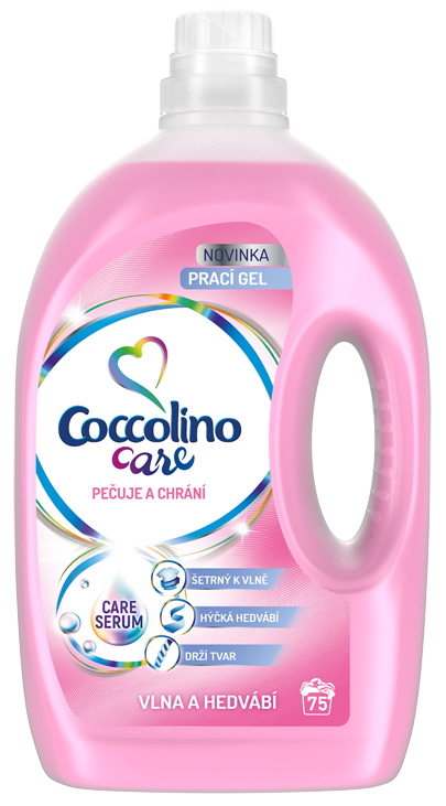 COCCOLINO Care Silk & Wool 3l (75 dávek) – prací gel