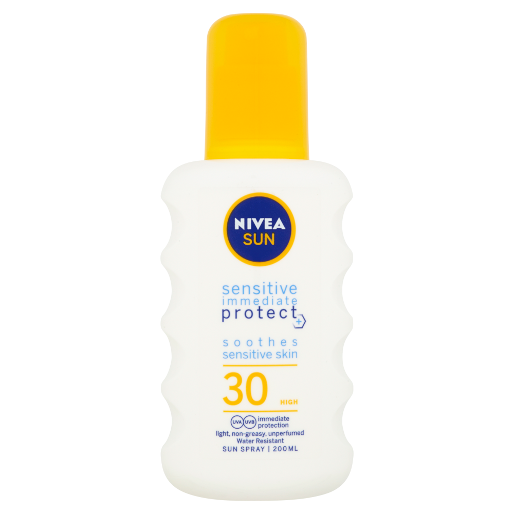 NIVEA Sun Sensitive sprej na opalování OF 30 200 ml