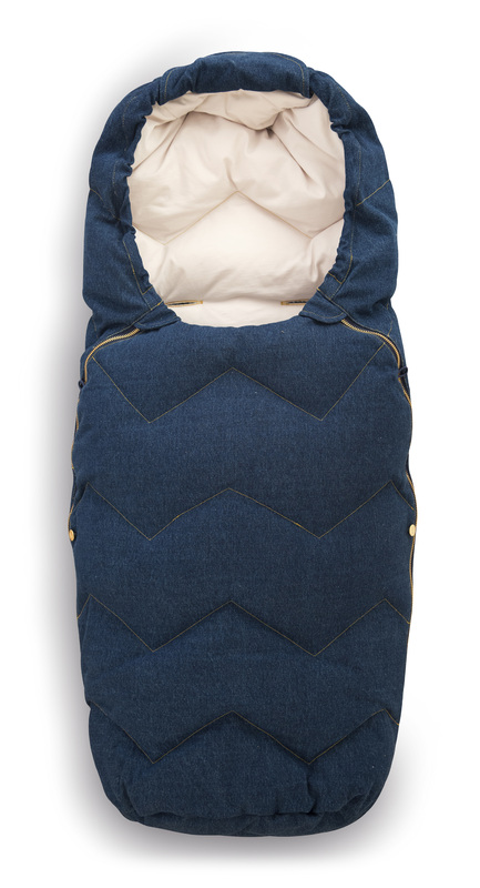 DESING BY VOKSI Stroller bag denim blue