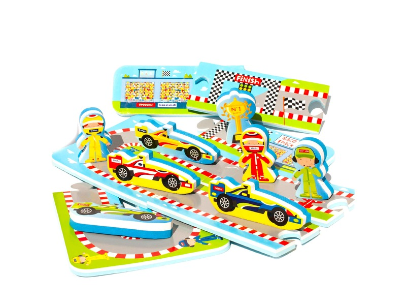 MEADOW Kids Puzzle do vany Automobilový závod