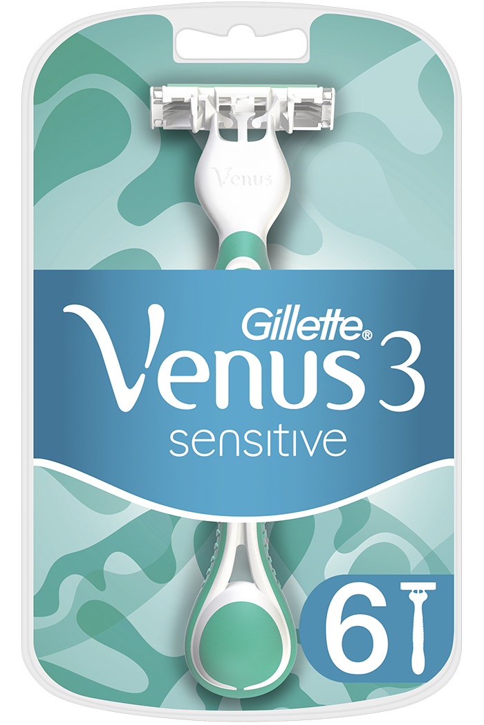GILLETTE Venus 3 Sensitive 6 ks – dámská holítka