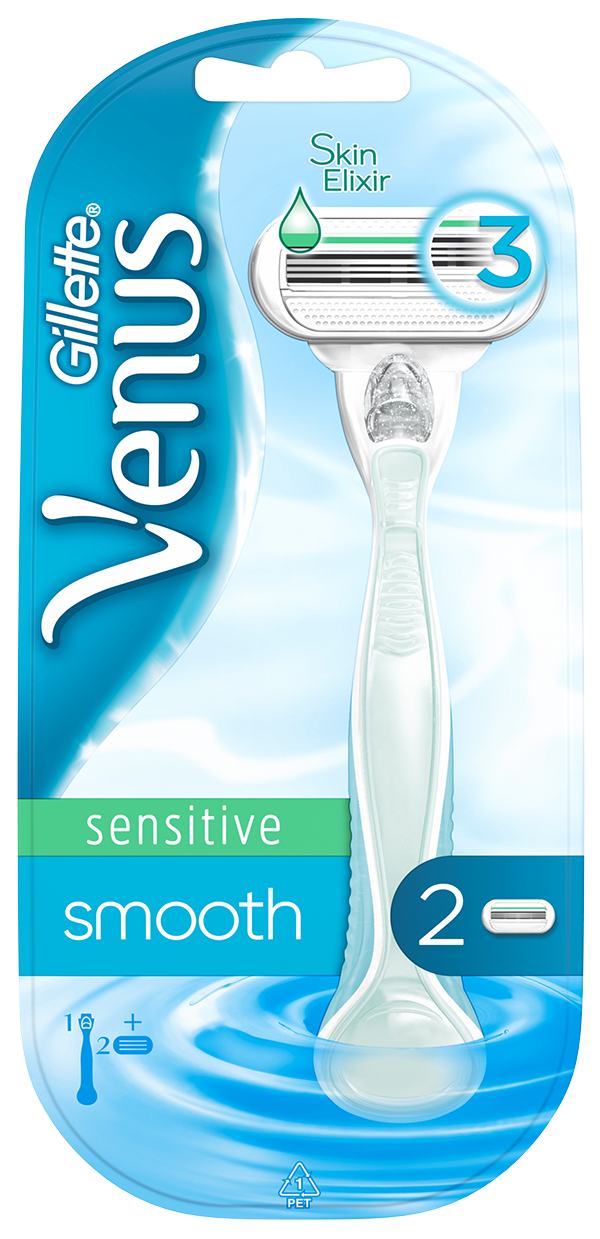 GILLETTE Venus Smooth Sensitive holiaci strojček  hlavice 2 ks