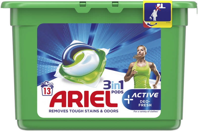 ARIEL Gelové kapsle Active Sport All in 1 – 13 ks