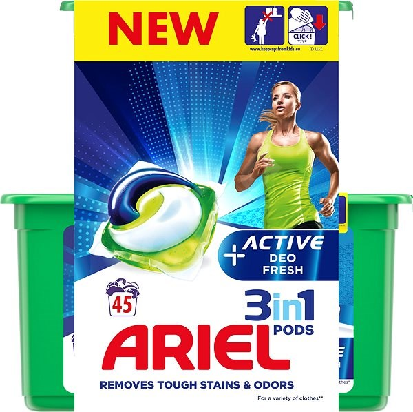 ARIEL Gelové kapsle Active Sport All in 1 – 45 ks