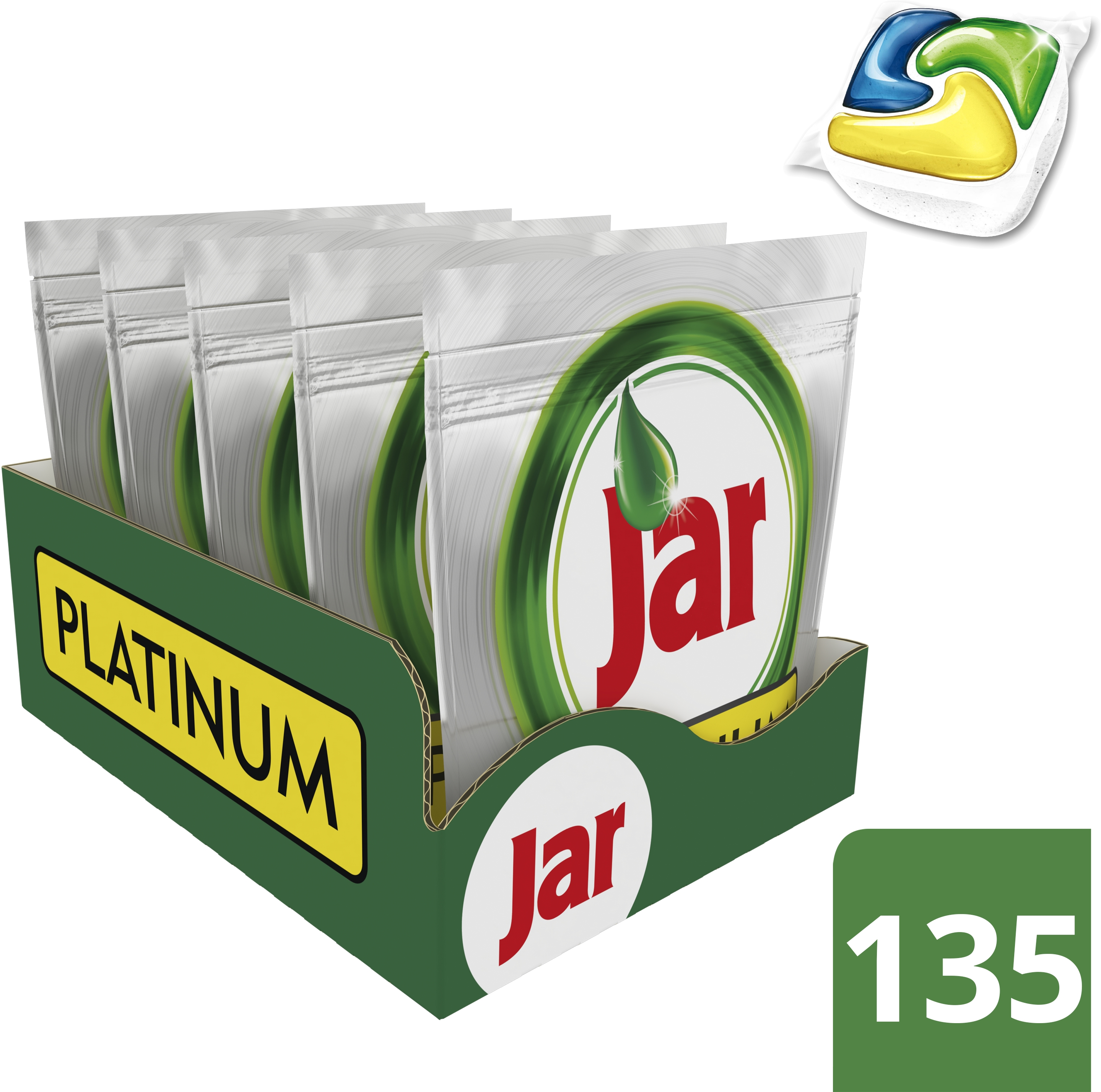 JAR Kapsle na nadobí Platinum Yellow 135 ks