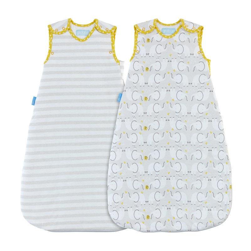 GRO Vak spací Elephant Love - Wash and Wear - Twin pack 25 Tog 18-36m