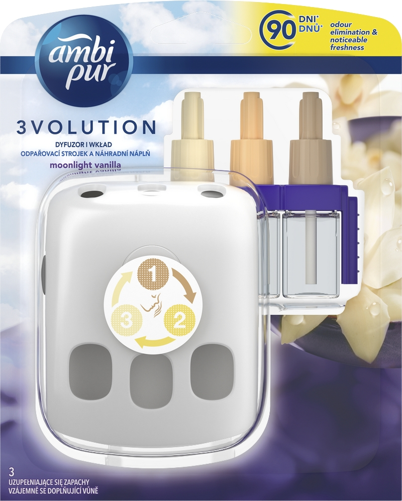 AMBI PUR 3 Volution Moonlight Vanilla strojek s náplní 20 ml
