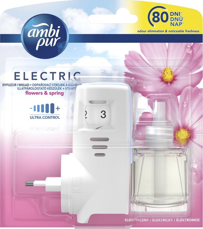 AMBI PUR Electric Flowers  Spring strojek s náplní 20 ml