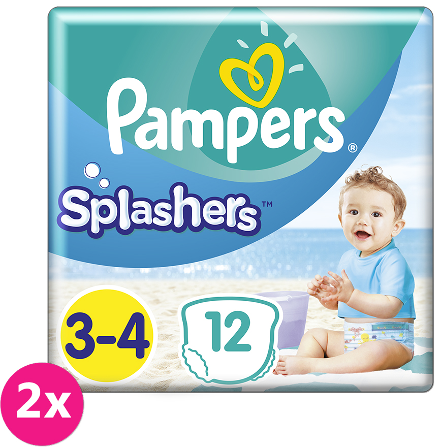 2x PAMPERS Pants Splashers Carry Pack vel. 3-4 (6-11 kg) 12 ks - jednorázové pleny do vody