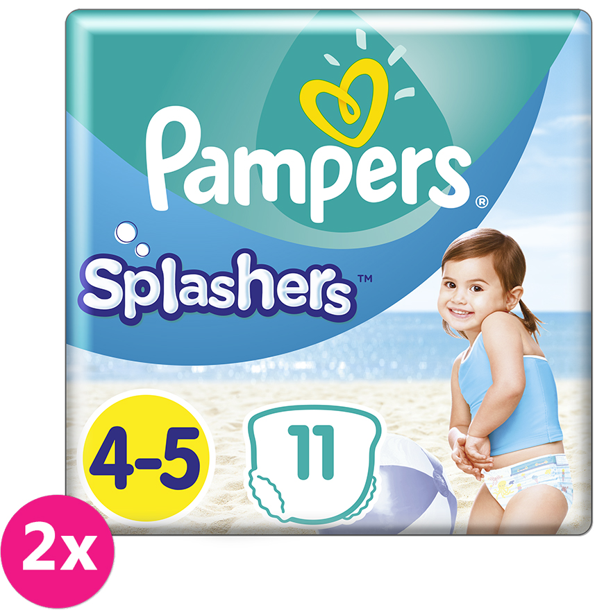 2x PAMPERS Pants Splashers Carry Pack vel. 4-5 (9-14 kg) 11 ks - jednorázové pleny do vody