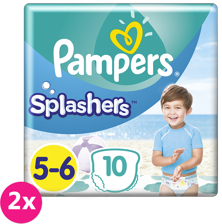 2x PAMPERS Pants Splashers Carry Pack vel. 5-6 (14 kg) 10 ks - jednorázové pleny do vody