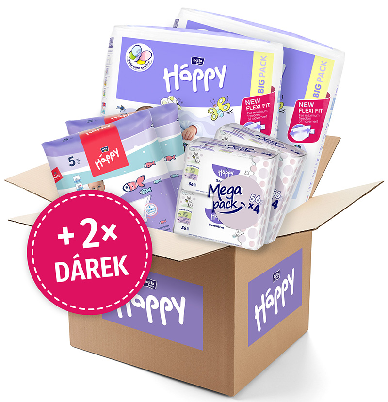 BELLA HAPPY BABY Start Box Newborn (2-5 kg) – jednorazové plienky