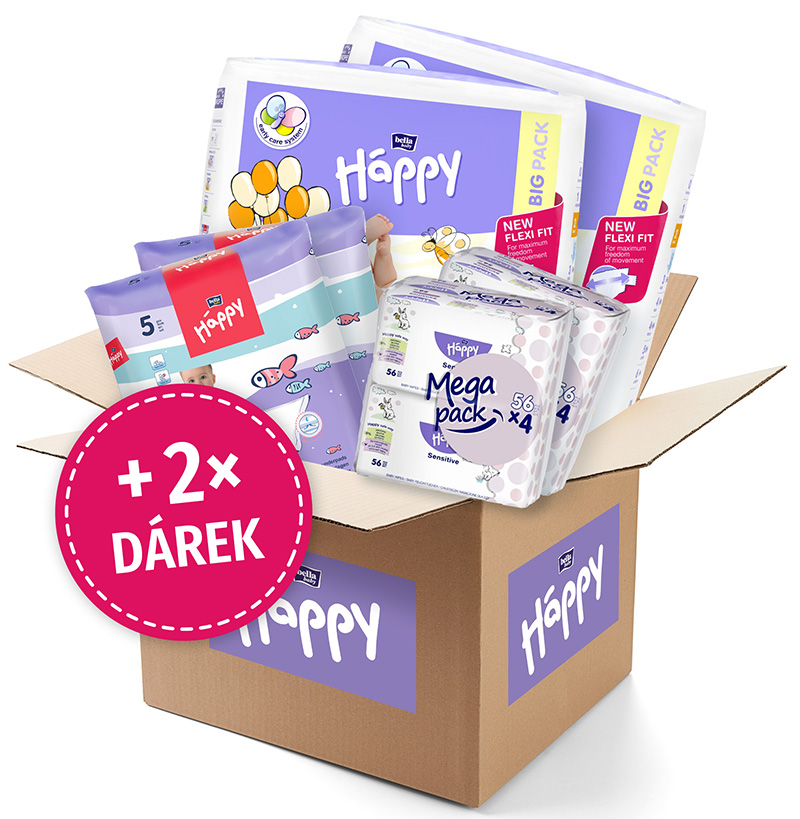 BELLA HAPPY BABY Start Box Mini (3-6 kg) – jednorazové plienky