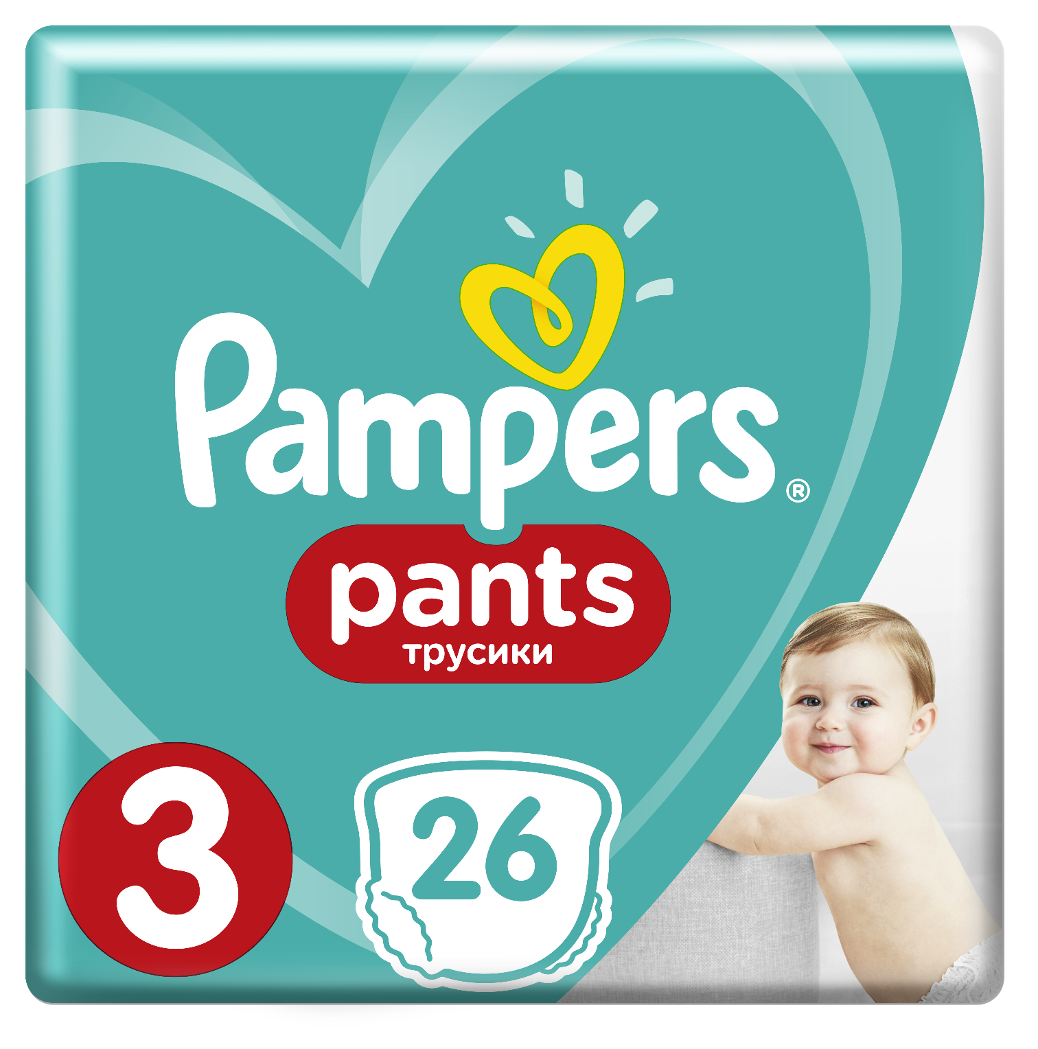 PAMPERS Pants 3 26 ks (6-11 kg) CARRY Pack - plenkové kalhotky