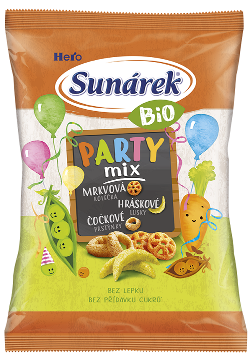 SUNÁREK Bio křupky Party Mix 15x90g
