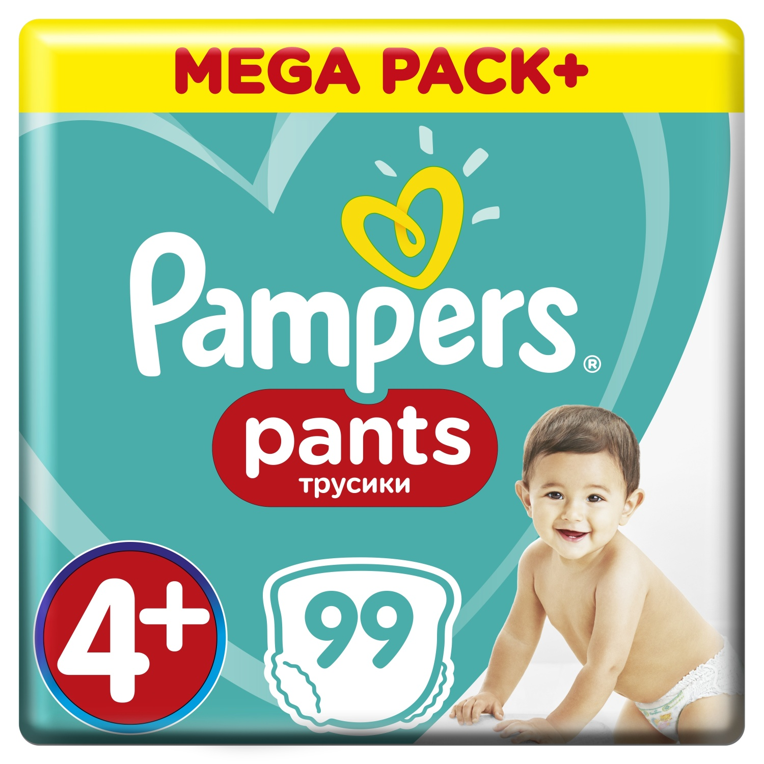 PAMPERS Pants 4 Active baby dry (9-15 kg) 99 ks – MEGA BOX