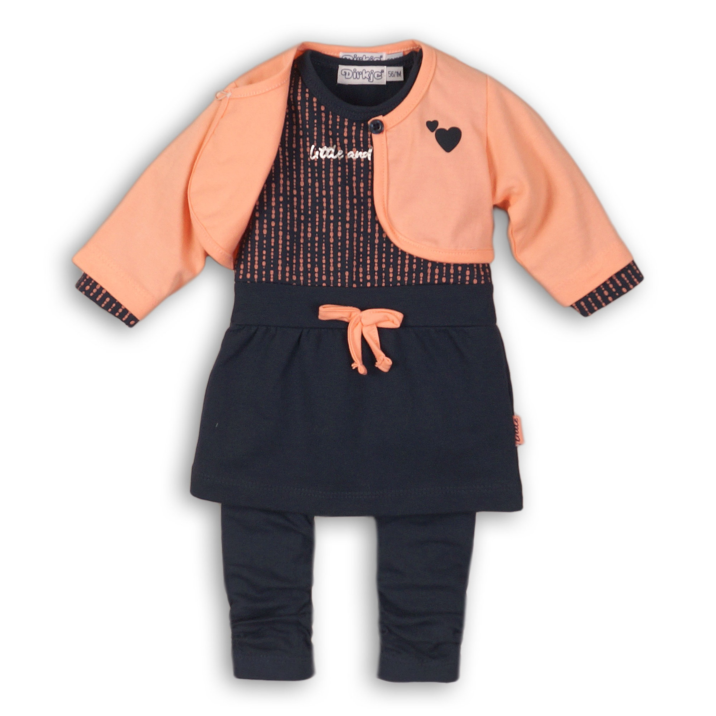 DIRKJE Set 3-dielny B-SO FRESH LITTLE AND LOVELY 80 Navy - Peach