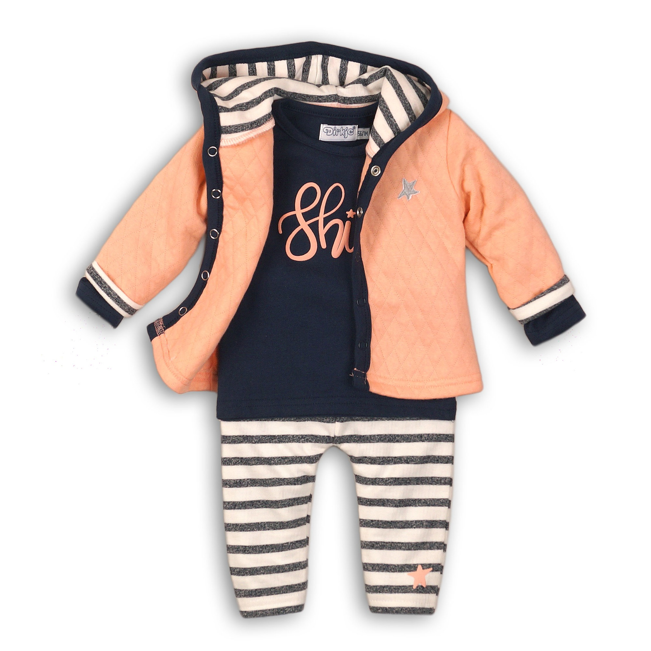 DIRKJE Set 3-dielny B-SO FRESH SHINE 86 Peach - Navy