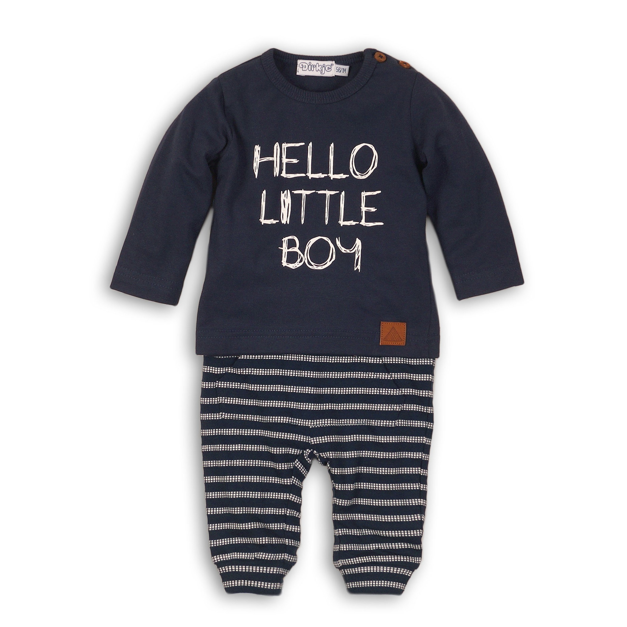 DIRKJE Set 2-dílný B-SO FRESH HELLO LITTLE BOY 80 Navy