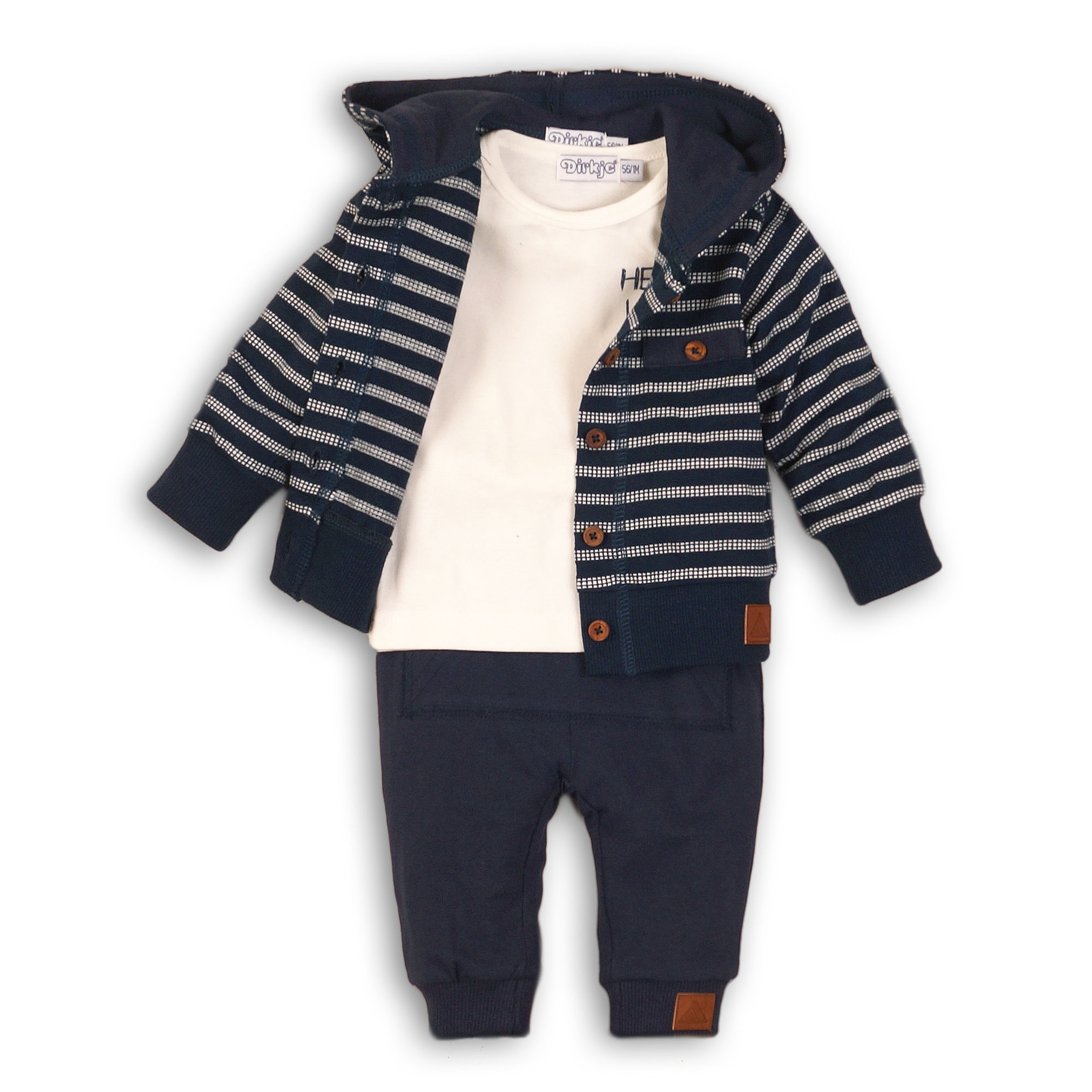 DIRKJE Set 3-dílný B-SO FRESH HELLO LITTLE BOY 56 Navy
