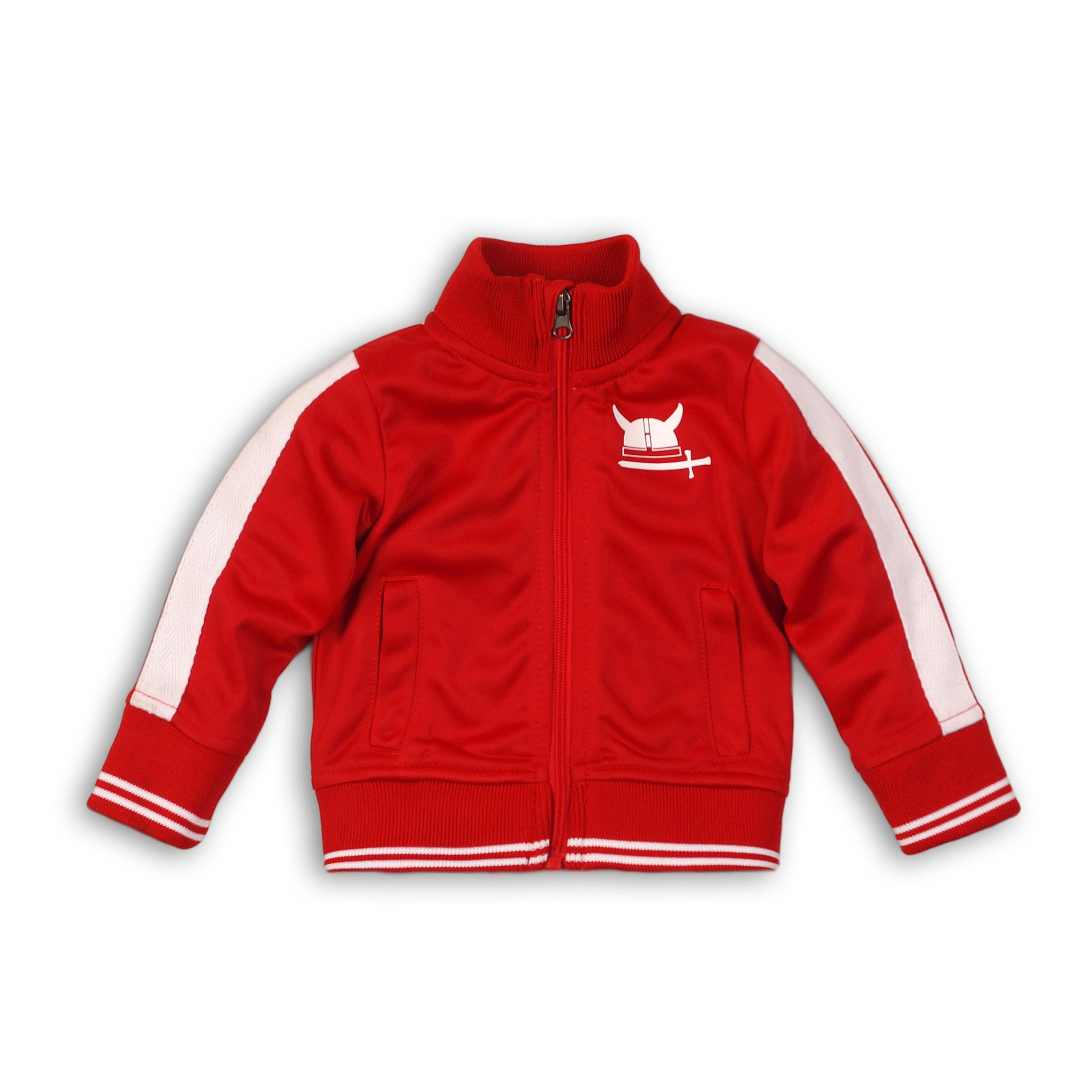DIRKJE Mikina na zip B-SO FRESH ALWAYS BE YOURSELF 86 Red