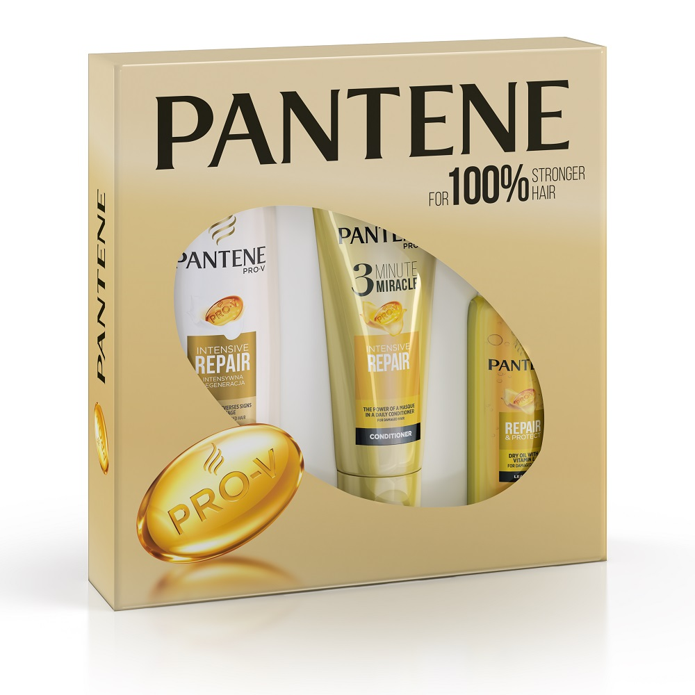 PANTENE Dárková sada Šampon 400ml  3MM Kondicionér 200ml  Oil 100ml