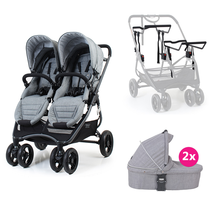 VALCO BABY Kombinovaný kočík Snap Ultra Duo Tailor Made Grey Marle