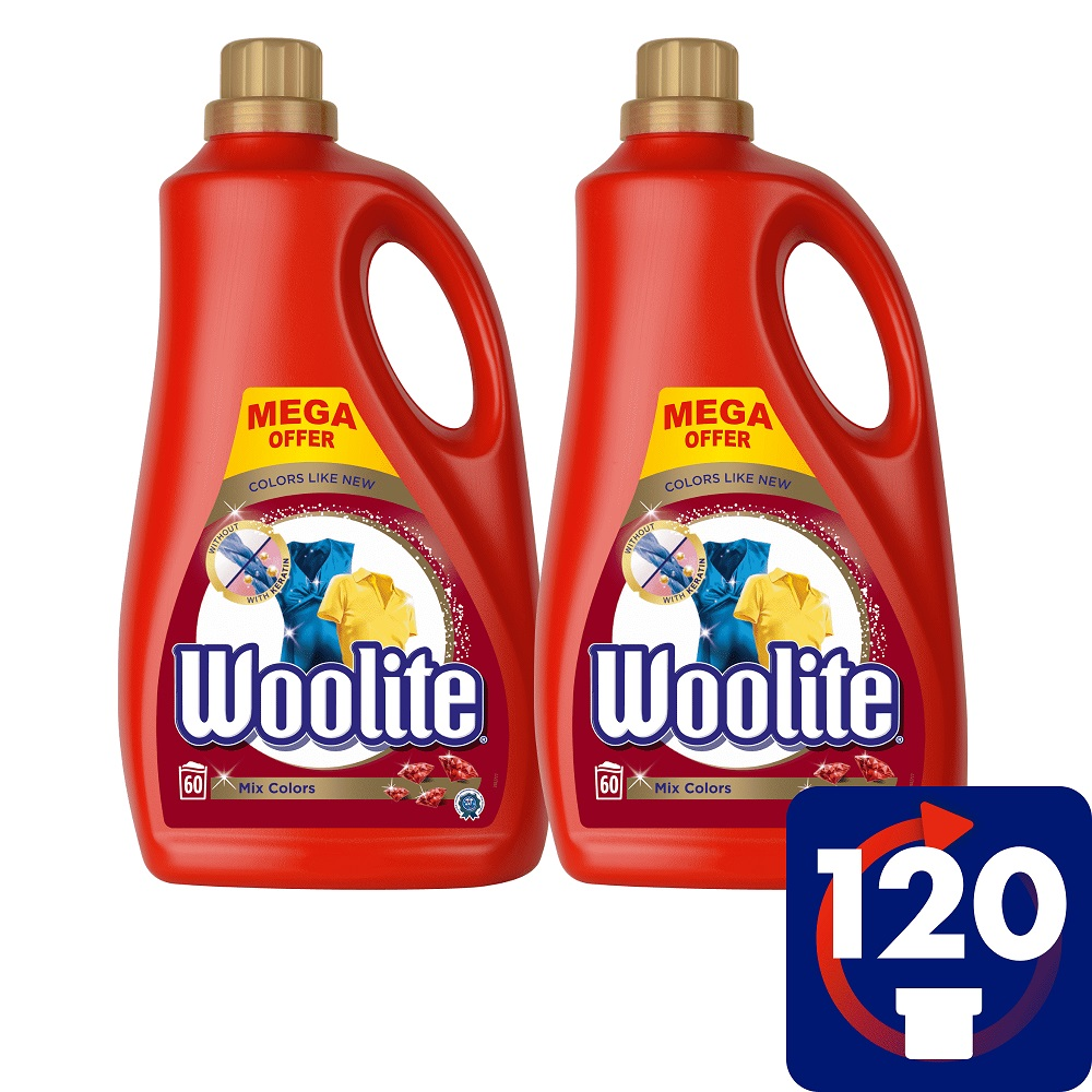 WOOLITE Mix Colors 7.2 l (120 dávek) – prací gel
