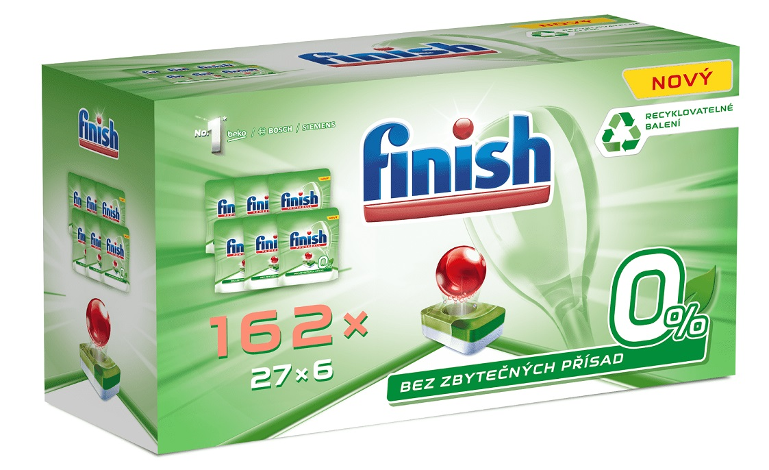 FINISH Green 0% (162 ks) Gigapack – tablety do myčky