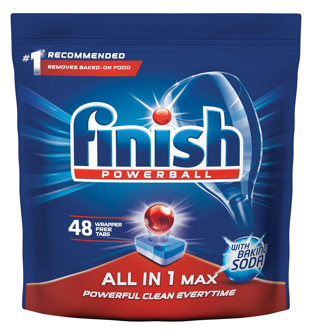FINISH All-in-1 Max Soda 48 ks – tablety do umývačky riadu