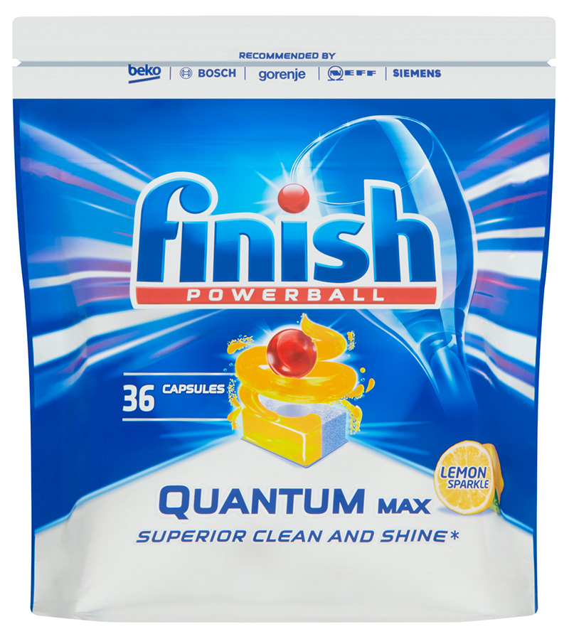 FINISH Quantum Max Lemon 36 ks – tablety do myčky