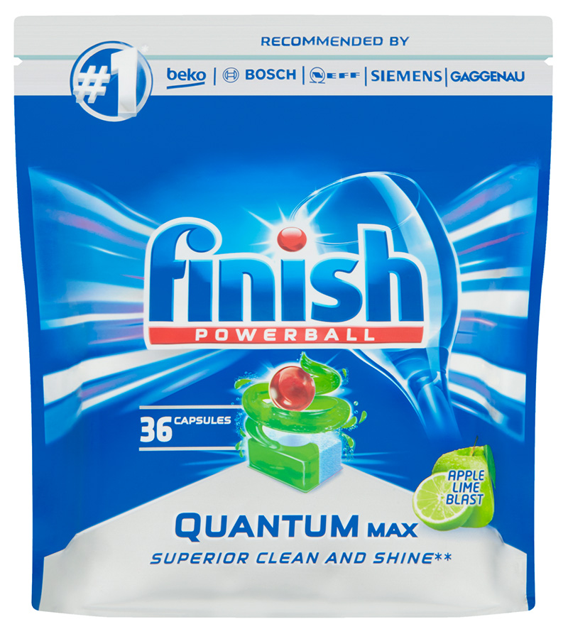 FINISH Quantum Max AppleLime 36 ks – tablety do myčky