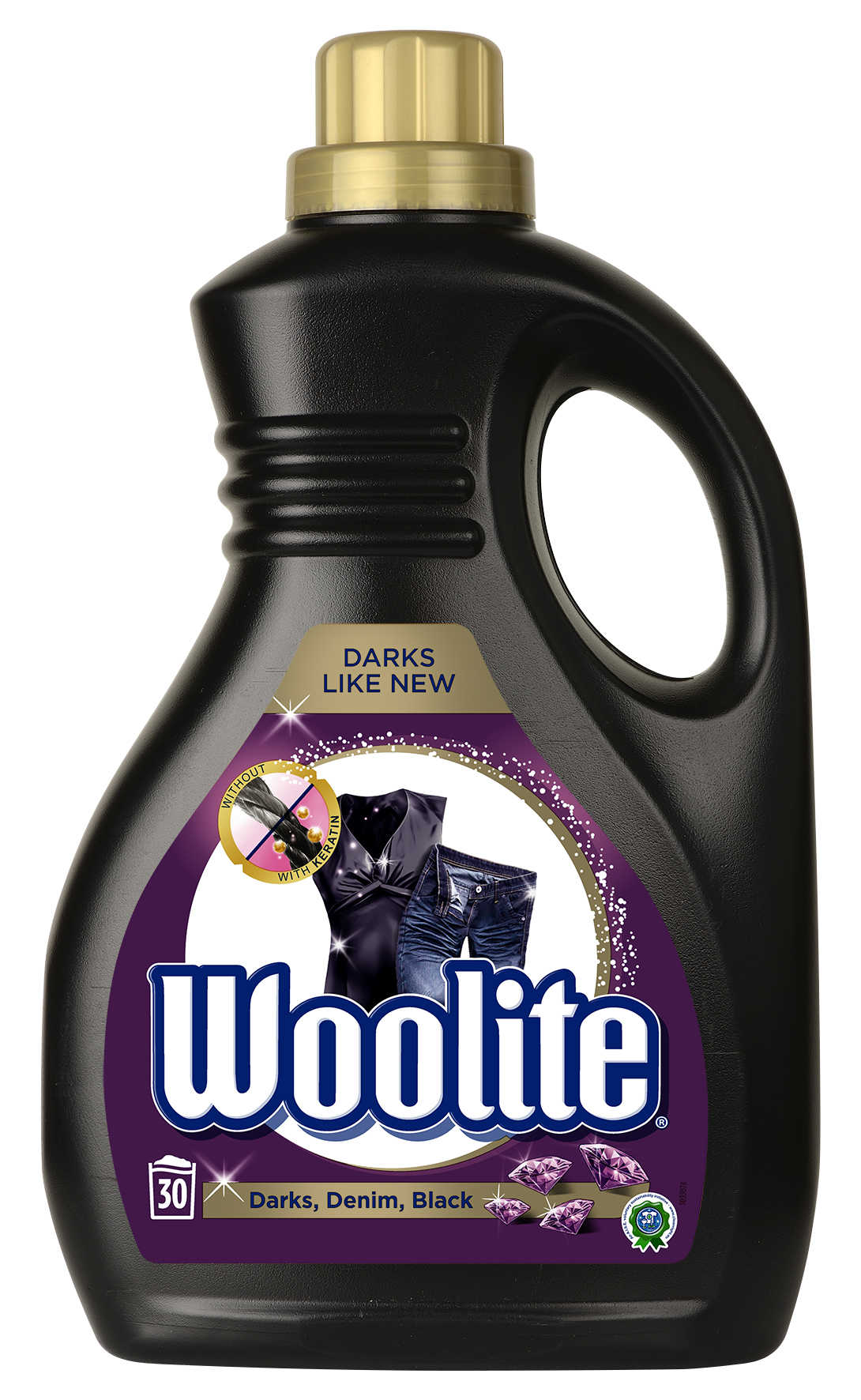 WOOLITE Dark Black  Denim 1.8 l (30 dávek) – prací gel