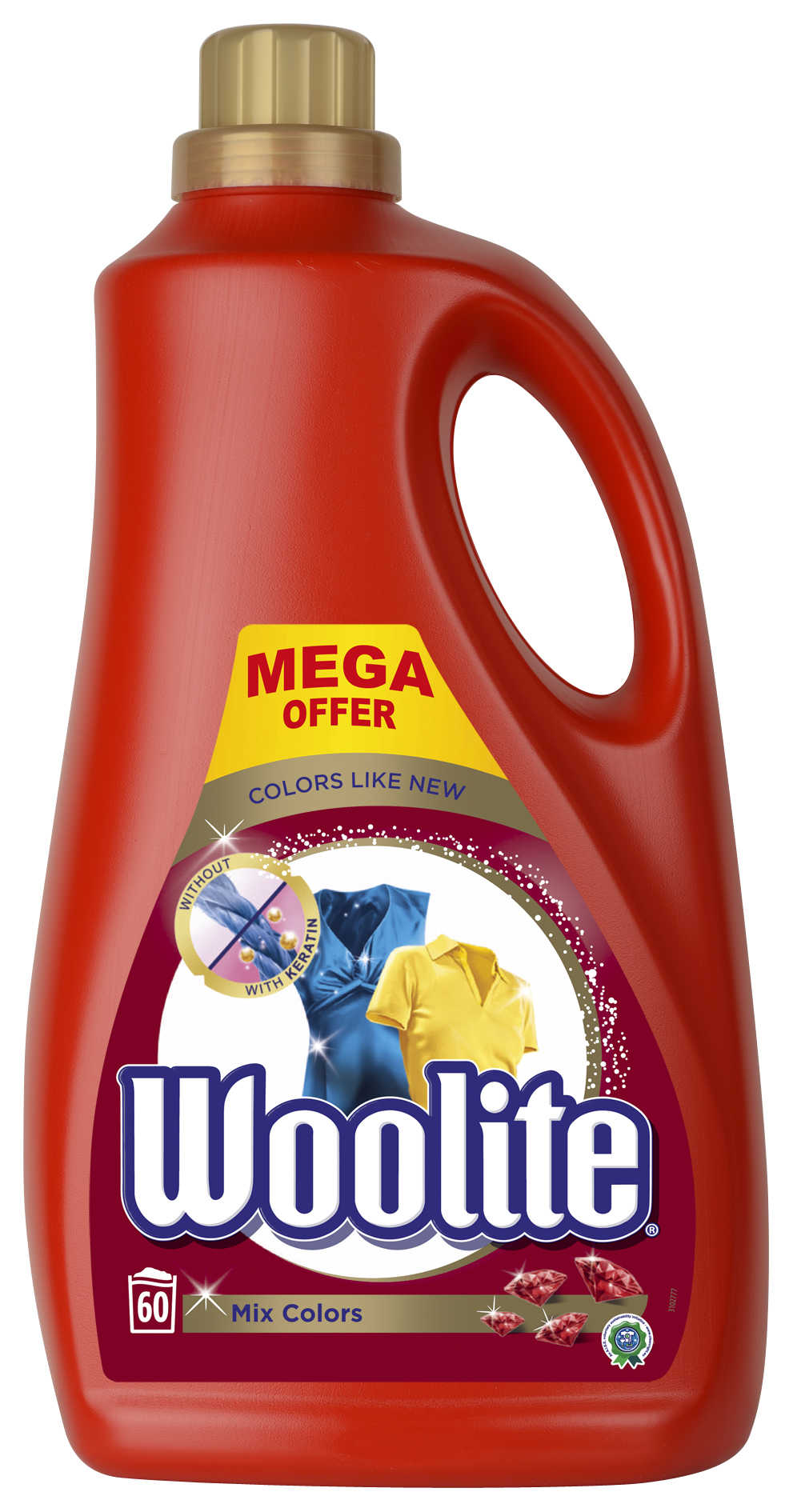 WOOLITE Mix Colors 3.6 l (60 dávek) – prací gel
