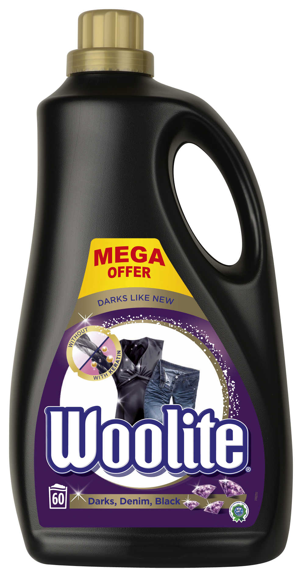 WOOLITE Dark Black  Denim 3.6 l (60 dávek) – prací gel