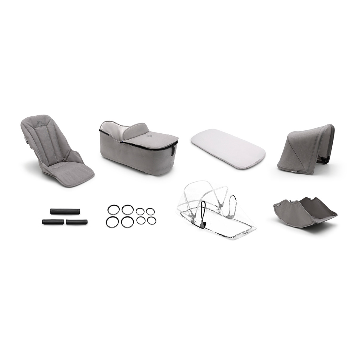 BUGABOO Fox style set complete Mineral Light Grey